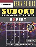 Expert SUDOKU: Jumbo 300 SUDOKU hard to extreme puzzle books with answers brain games for adults Activity book (hard sudoku puzzle books Vol.92) (expert SUDOKU puzzle books)