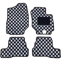 【フロアマット】 スズキ 新型 ジムニー ジムニーシエラ JB64W JB74W (マニュアル車専用) チェックシリーズ ブラック×ホワイト (国内生産社外マット) JIMNY JIMNYSIERRA