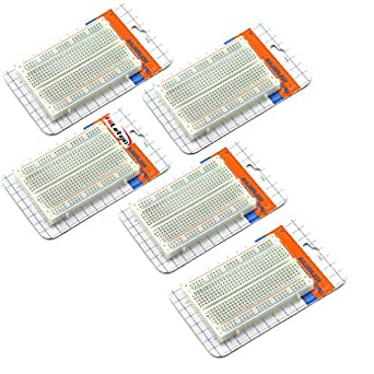 HiLetgo® 5個セット 400穴 ミニブレッドボード 実験用ボード 8.5*5.5 CM ニューブレッドボード [並行輸入品]