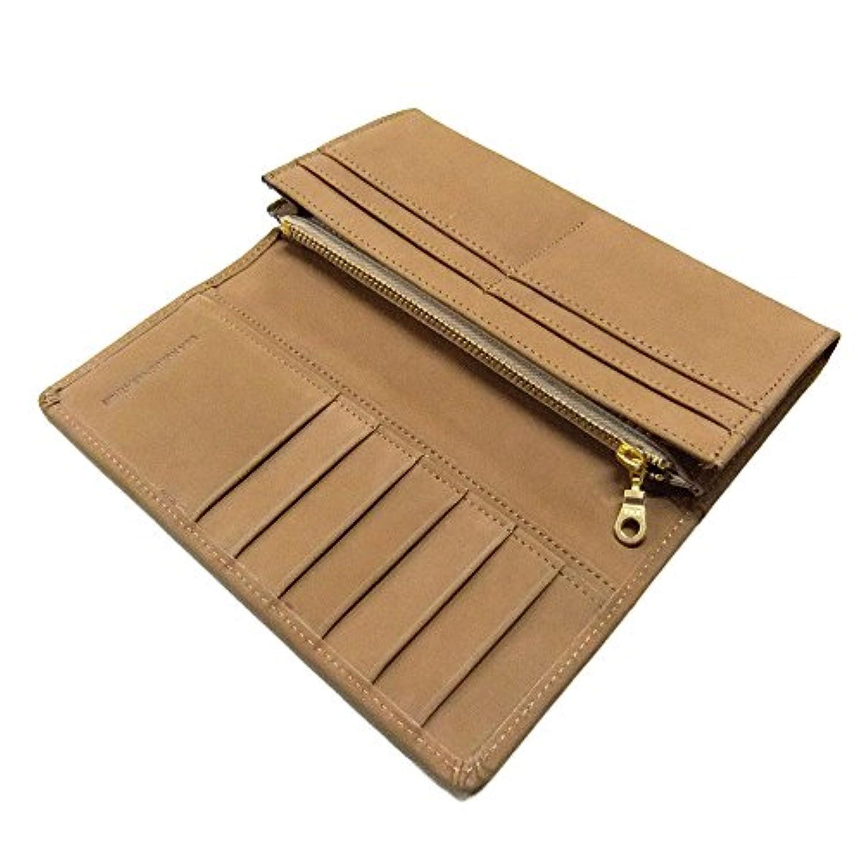 highstyle 長財布 カードポケット10枚 本革 牛革 USA産 ヌバックレザー フラップタイプ ロングウォレット (ナチュラル)