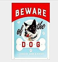 Beware The Dog Souvenir 注意看板メタル安全標識壁パネル注意マー表示パネル金属板のブリキ看板情報サイン