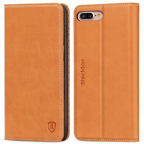 21a5153ad1 iPhone 8 Plus ケース 手帳型 iPhone 7 Plus ケース 手帳 SHIELDON TPU 本革レザー