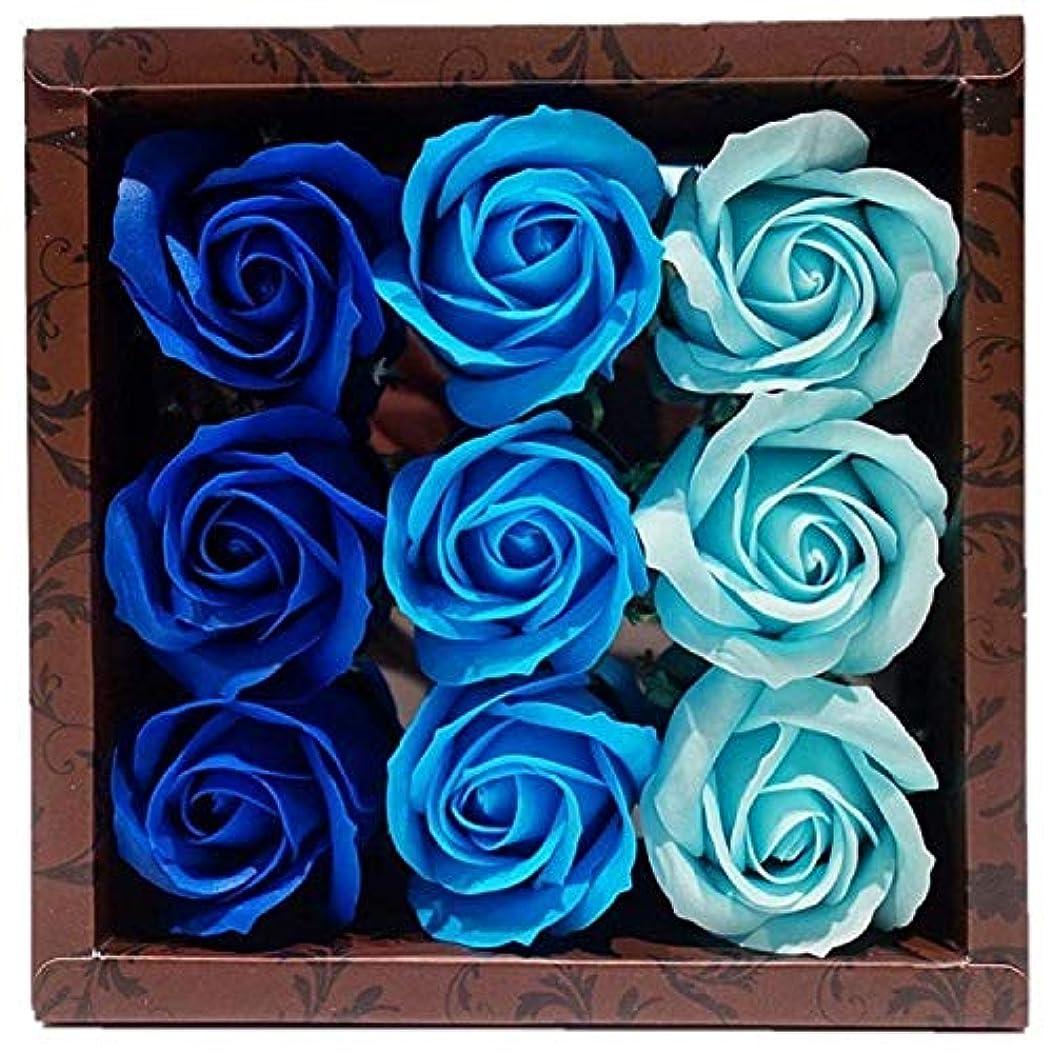 祝福する診療所無駄バスフレグランス バスフラワー ローズフレグランス ブルーカラー ギフト お花の形の入浴剤 ばら