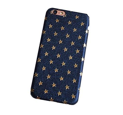 【ELEEJE】人気沸騰中!!星柄がオシャレで可愛いスマホケース&画面クリーナー&タッチペンセット (iphone6/6s用) (ブルー)
