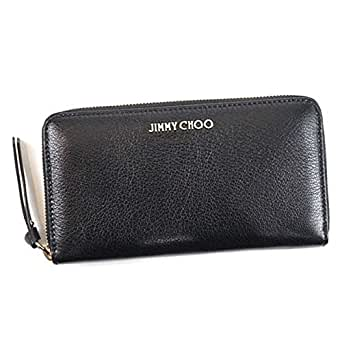 JIMMY CHOO(ジミーチュー) 長財布 BK PIPPA SOFT GRAINED GOAT LEATHER BLACK [並行輸入品]