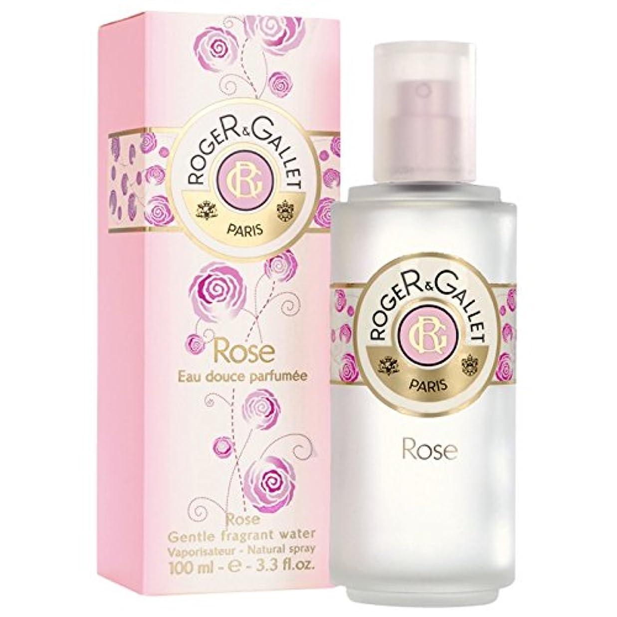 石鹸警告するイースターロジャー&Galletのは、香りの水100ミリリットルをバラ (Roger & Gallet) (x2) - Roger & Gallet Rose Fragrant Water 100ml (Pack of 2) [並行輸入品]