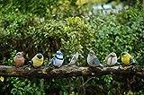 ガーデンオーナメント 庭/オブジェ/置物 鉢植え 飾り物 おしゃれ インテリア雑貨   (動物 小鳥 6個セット)