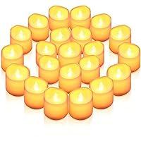 AMIR LED キャンドルライト 揺らぐ炎 電子ろうそく 角型 12個セット LED キャンドル 無煙蝋燭 安全 省エネ 電池式 クリスマス パーティー プロポーズ 誕生日 お盆 飾り ホワイト 暖色光