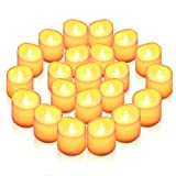 AMIR LED キャンドルライト LEDキャンドル ろうそく 癒しの灯り 揺らぐ炎 リアル感 火を使わない 安全 省エネ 長持ち 便利 おしゃれ クリスマス 結婚式 誕生日 室内 室外飾り インテリアライト (24個セット)
