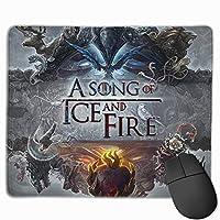 氷と火の歌 マウスパッド 25×30 大判 ノンスリップ 防水 ゲーミング おしゃれ マウスの精密度を上がる