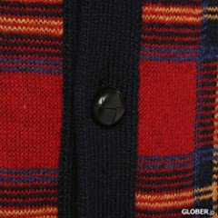 Wool Button Front Sweater Vest 1363147: Red