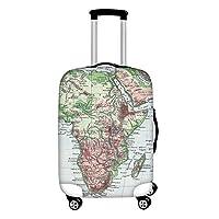 ThiKin スーツケースカバー おしゃれ 伸縮素材 ラゲッジカバー 洗える 地図 luggage suitcase cover 目立 防塵 旅行 個性的 キャリーカバー トランクカバー S M Lサイズ