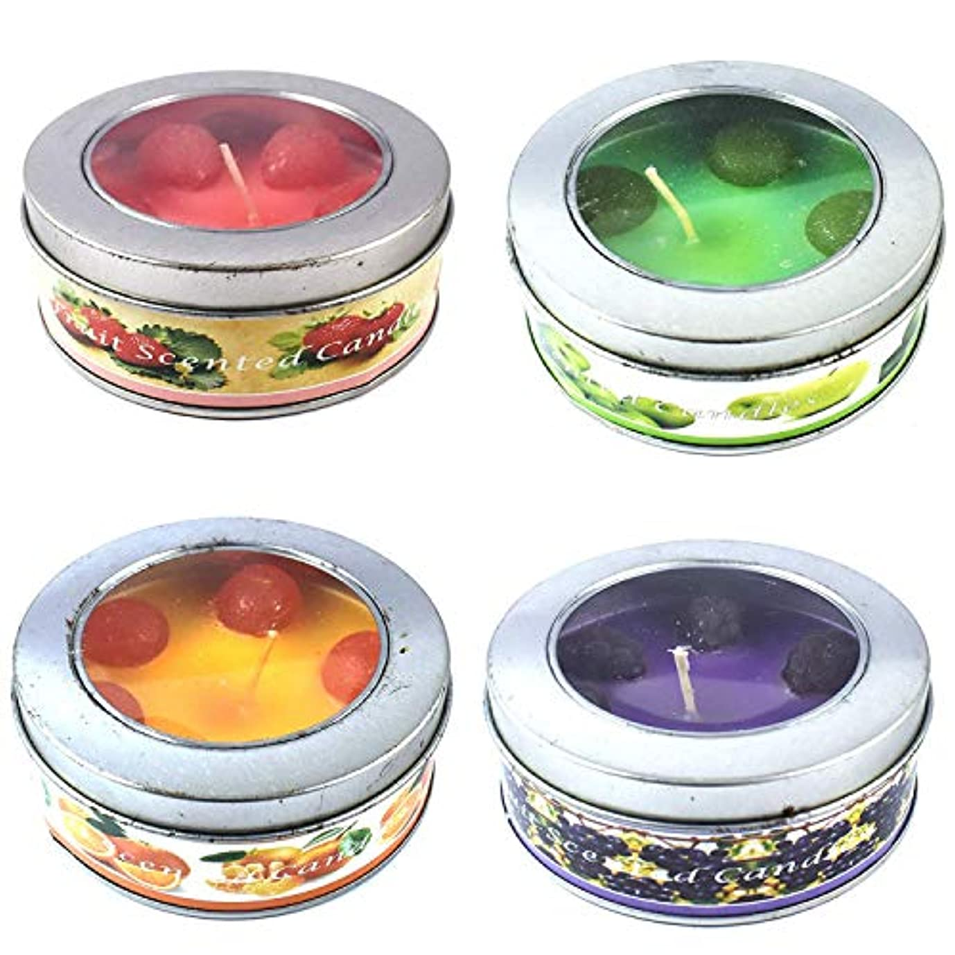 航空会社巧みな飼い慣らすUrvi Creations Pack of 1 Gel Tealight Multi Flavor Fruit Scented Smokeless Candle for Diwali and Christmas Decor