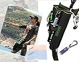 (i-loop) フィッシングバッグ ロッドホルダー LEDミニトーチ カラビナ ルアーケース 4点セット (アーミーグリーン+ミニLED付き)