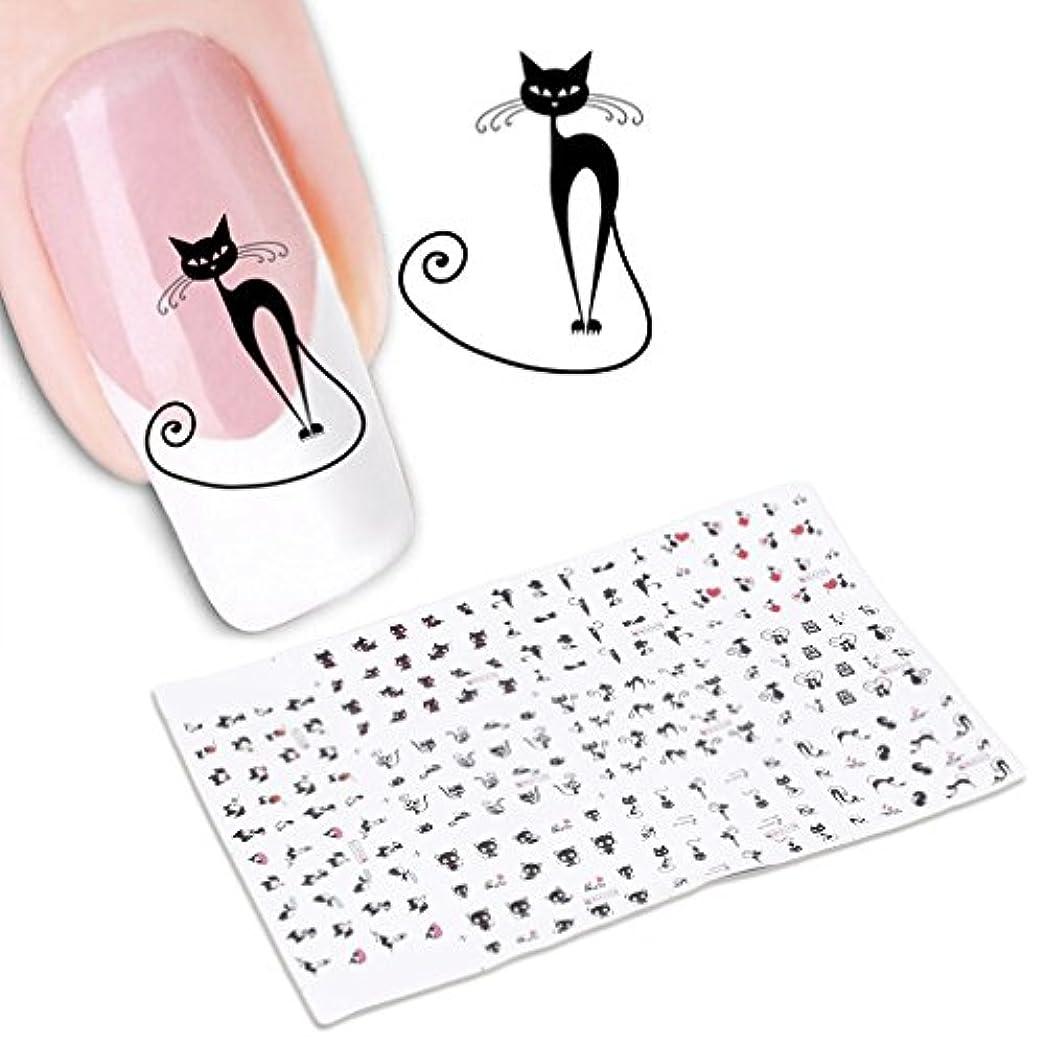帆アドバンテージ怒り貼るだけでいい 3Dネイルシール ネイルシール ネイルステッカー デコレーション ナイルアート ナイル飾り ナイル装飾 カット 猫 可愛い