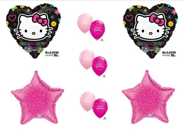 Hello Kitty BirthdayパーティーBalloons Decorations Suppliesピンクとブラックby Anagram