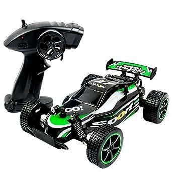 TAKUMI RC防水ミニジープ 2.4Ghz ラジコンカー 二輪駆動 疾走 クイックレスポンス 子供おもちゃ ミニカー 1:20比例 黒緑