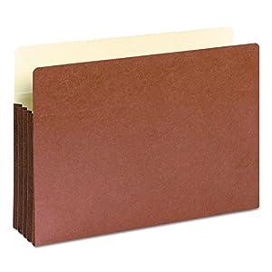 3 1/2 Inch Expansion File Pockets, Straight Tab, Legal, Manila/Redrope, 10/Box (並行輸入品)