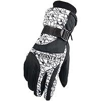 メンズ手袋暖かい防水スキー手袋スキーギアスノーボード手袋、05