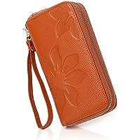 APHISON Women RFID Blocking Purse Zipper Leather Wallet Card Holder/Gift Box 8348