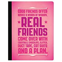 Tree-Free Greetings Real Friends Soft Cover 140 Page Recomposition College Ruled Notebook 9.75 x 7.25 Inches (CJ47334) [並行輸入品]