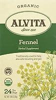 Alvita - 有機性ウイキョウの茶カフェインは放す - 1ティーバッグ