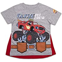 Nickelodeon Toddler Boys Blaze Cape Shirt Blaze and The Monster Machines Pit Crew Cape Tee