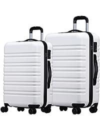 (ラッキーパンダ) luckypanda【1年間修理保証】TY8098 大型+中型 2点セット スーツケース 軽量 TSAロック ファスナー キャリーケース キャリーバッグ 機内持込