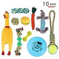 犬おもちゃ 噛むおもちゃ犬噛むおもちゃ ストレス発散 ムズムズ解消 清潔 歯磨き 丈夫 耐久性 小型犬・中型犬に適応応(10セット) (Color : Multi-colored)