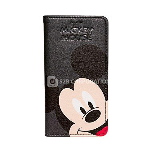 Galaxy S4 Disney Color Flip ディズニー カラー フリップ 手帳型 ケース カバー ブラックミッキー / Black Mickey ギャラクシー S4 (SC-04E)