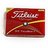 TITLEIST(タイトリスト) DT TruSoft ゴルフボール 12個 2ピース 飛距離&超ソフトボール  T6132S-J イエロー