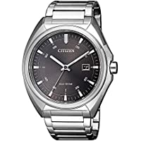 Citizen Men's Solar Powered Wrist watch, stainless steel Bracelet analog Display and Stainless Steel Strap, AW1570-87H