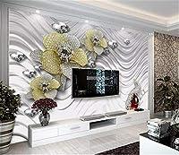 Bzbhart 電話3d壁紙金属テクスチャ宝石リビングルーム寝室背景壁装飾壁画壁紙-400cmx280cm