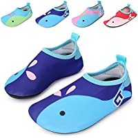 katliu Boys Girls Swim Water Shoes Quick-Dry Soft Cartoon Sports Skin Barefoot Aqua Socks Shoes for Swim Beach Pool Surfing