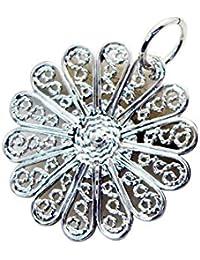 平野赤ちゃん銀のジュエリーママペンダントリットルの1.5インチのsppla-120048理世 [並行輸入品]
