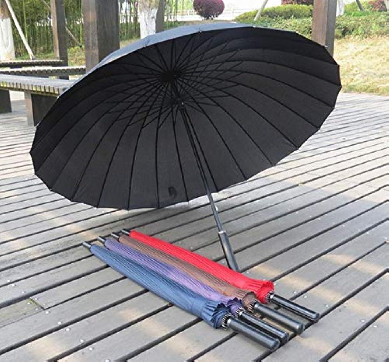 真っ逆さま動機サイクロプスChuangshengnet 傘大型傘ロングハンドルストレートロッドゴルフ傘マニュアルオープン高品質防風 (Color : ブラック)