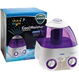 Vicks Starry Night Cool Moisture Humidifier   Self-regulating Evaporative System, Filters Impurities From The Water, Calming Environment to help your child sleep