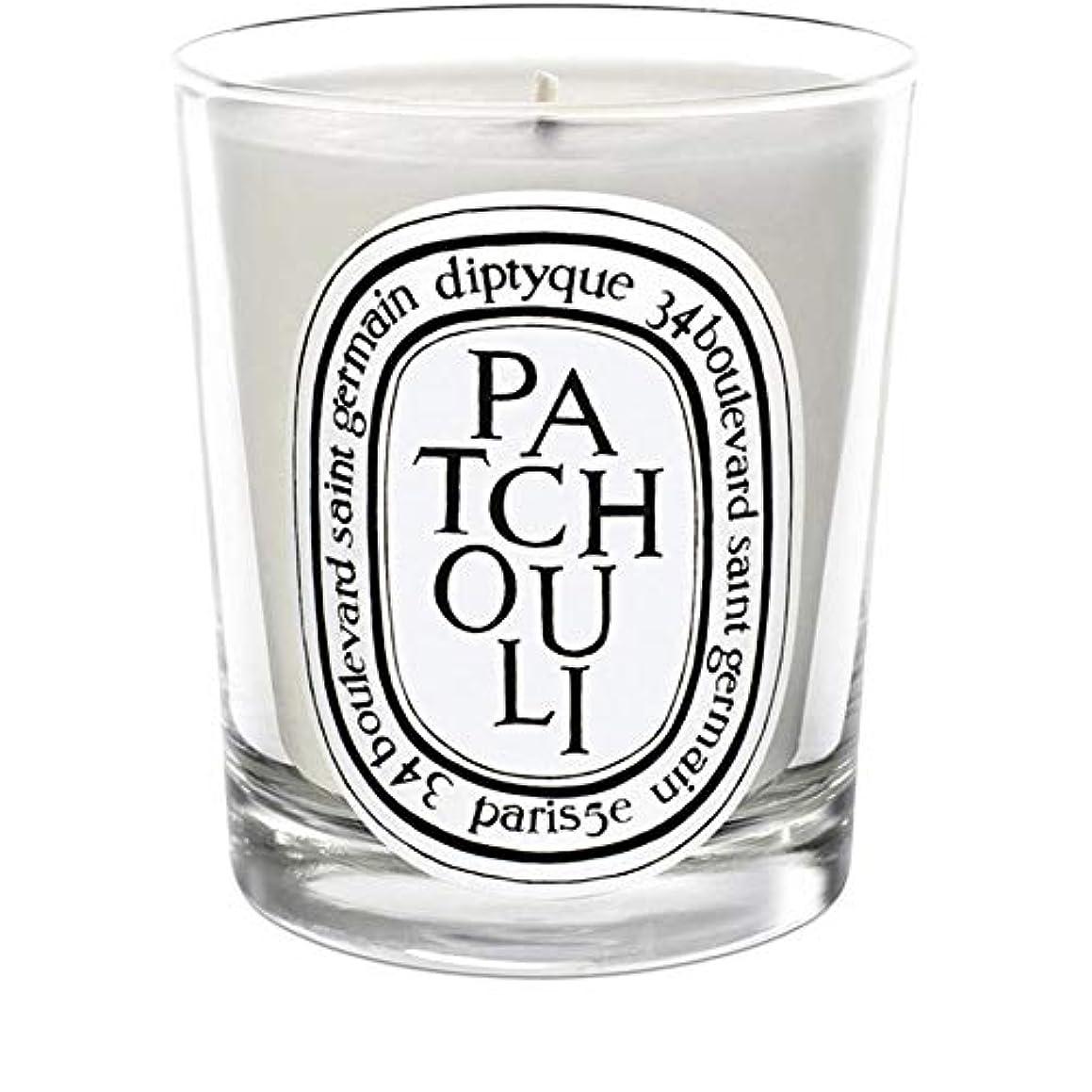 履歴書ハンカチ二層[Diptyque] Diptyqueのパチョリミニ香りのキャンドル70グラム - Diptyque Patchouli Mini Scented Candle 70g [並行輸入品]