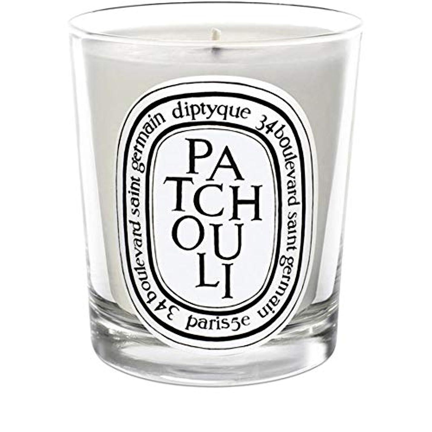 保安日付付きファッション[Diptyque] Diptyqueのパチョリミニ香りのキャンドル70グラム - Diptyque Patchouli Mini Scented Candle 70g [並行輸入品]