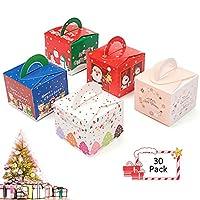 ギフトボックス クリスマス お菓子 ラッピング 30個セット ギフトラッピング クリスマス プチギフト お菓子 個包装 クリスマス チョコレート クッキー キャンディーボックス