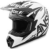 Answer アンサー Nova Dyno Helmet 2014 オフロード ヘルメット ブラック/ホワイト M(57~58cm)