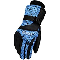 男性手袋暖かい防水スキーグローブスキーギアスノーボードグローブ、02