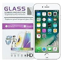 NUGGETS ガラスフィルム iPhone7/ 7Plus 用 液晶保護 シート 高透明・9H 防爆裂・スクラッチ防止・気泡ゼロ・指紋防止対応クリア 2.5 D (iPhone 7)