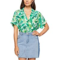 French Connection Women's Leaf Print POP Over