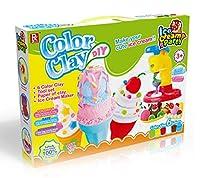 swordplus DIY色Clay、エアソフトクレイ泥セット、クリエイティブモデリングIce Cream–モデルツール–複合–Clay Mudギフトfor Kid、6色