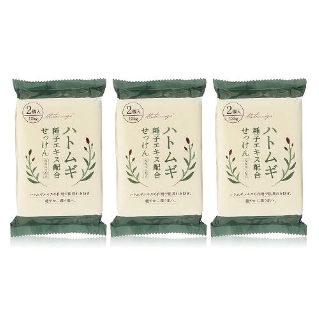 順応性一目賛辞ハトムギ種子エキス配合石けん 125g(2コ入)×3個セット(計6個)