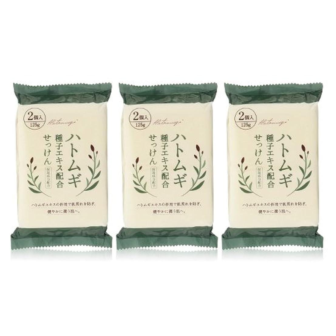 ソブリケットクリーム溝ハトムギ種子エキス配合石けん 125g(2コ入)×3個セット(計6個)