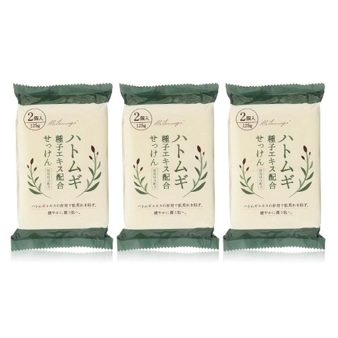 ドナウ川提案する食料品店ハトムギ種子エキス配合石けん 125g(2コ入)×3個セット(計6個)