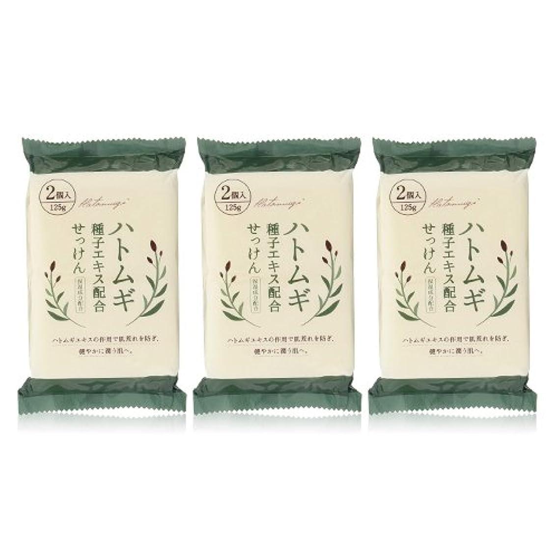 引き算運ぶ医薬品ハトムギ種子エキス配合石けん 125g(2コ入)×3個セット(計6個)