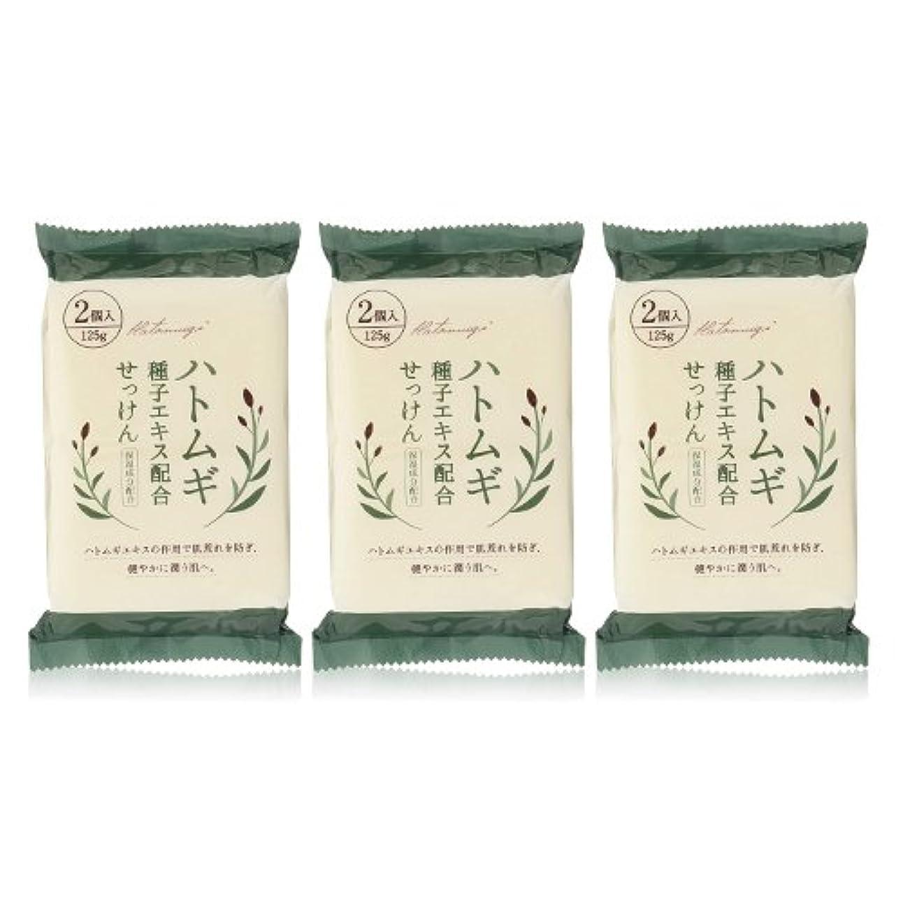 力学中国組ハトムギ種子エキス配合石けん 125g(2コ入)×3個セット(計6個)